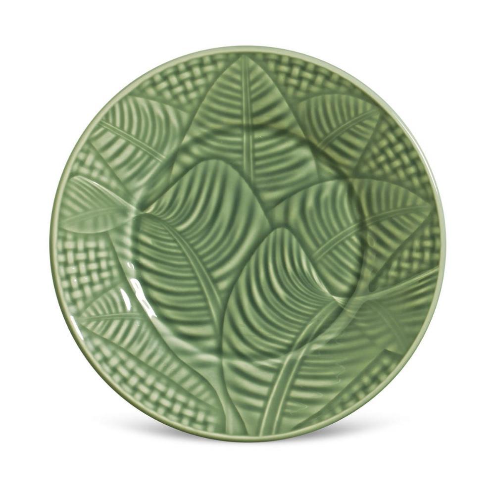 Conjunto com 6 Pratos de Sobremesa Leaves Verde Sálvia 20,5 cm