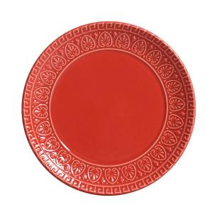 Conjunto com 6 Pratos de Sobremesa Greek Vermelho 20 cm