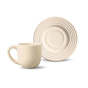 Conjunto com 6 Xícaras de Café com Pires Argos Cru 72 ml