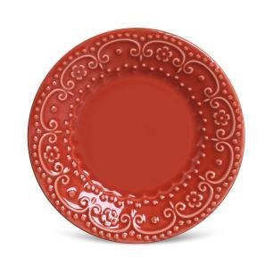Conjunto com 6 Pratos de Sobremesa Esparta Vermelho 20,5 cm