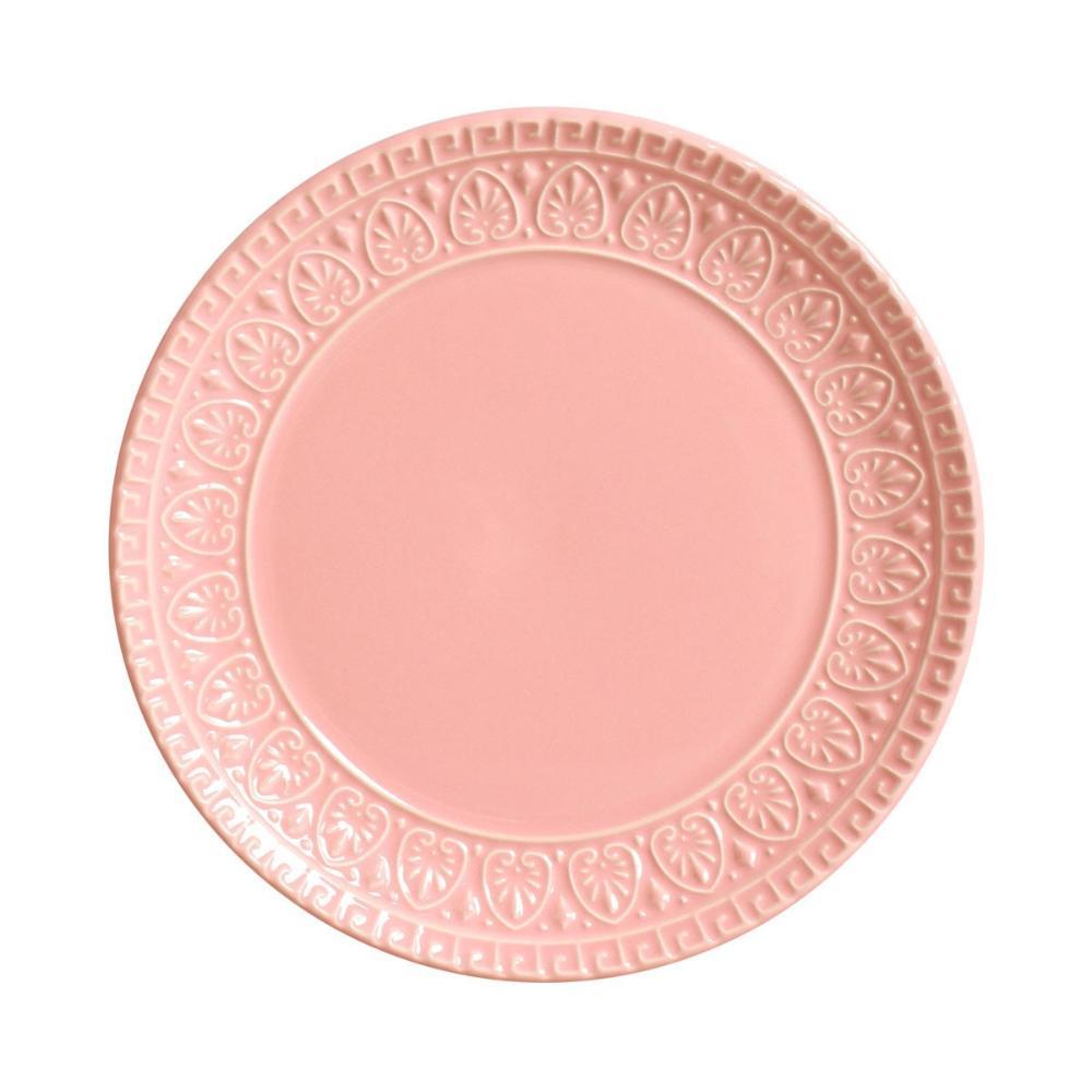 Conjunto com 6 Pratos de Sobremesa Greek Rosa 20 cm