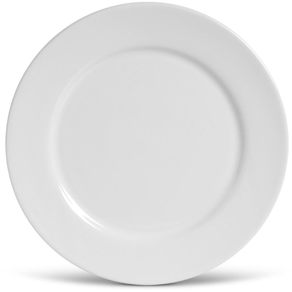 Conjunto com 6 Sousplat Liso Branco 32 cm