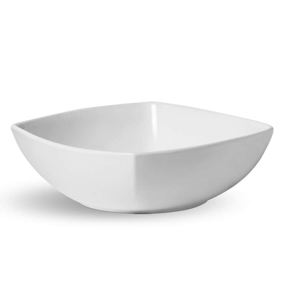 TIGELA SQUARE GRANDE BRANCO 30,5 cm 4450 ml