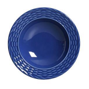 Conjunto com 6 Pratos Fundo Bali Azul Navy 22cm
