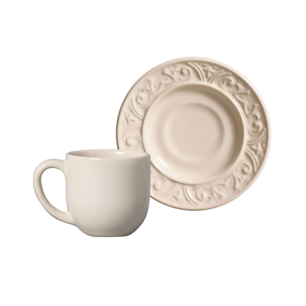 Conjunto com 6 Xícaras de Café com Pires Porto Cru 72 ml
