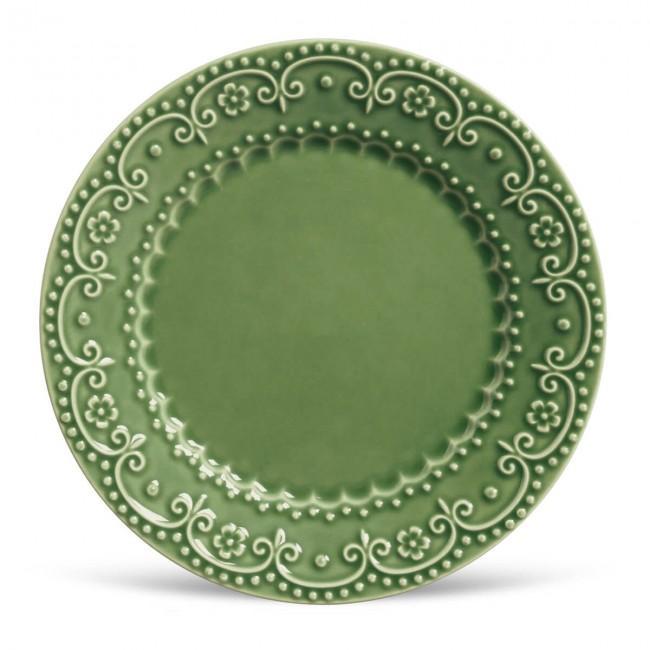 Conjunto com 6 Pratos Raso Esparta Verde Sálvia 26cm