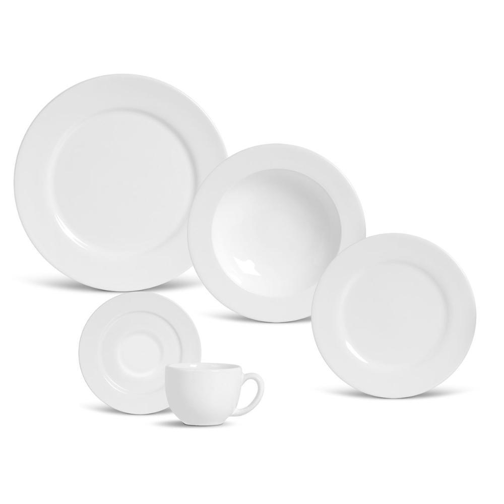 Aparelho de Jantar 30 Peças Flat Branco