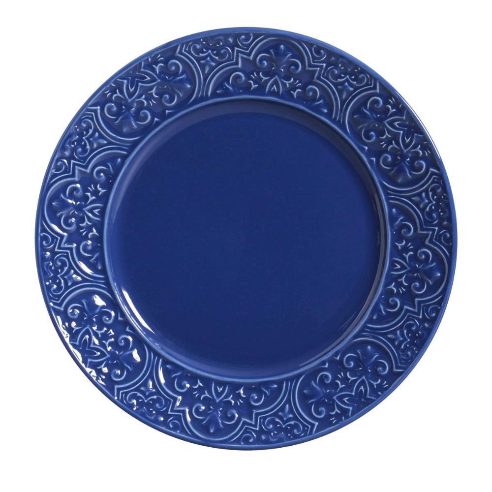 Conjunto com 6 Pratos Raso Porto Azul Navy 26cm