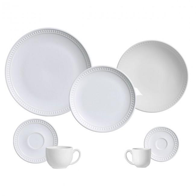 Aparelho de Jantar 42 Peças Sevilha Branco