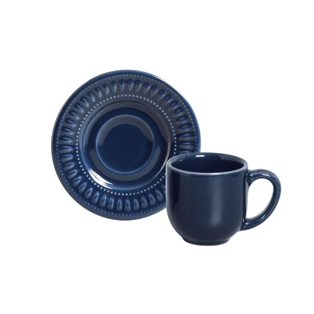 CONJUNTO C/ 6 XÍCARAS DE CAFÉ C/ PIRES DAISY DEEP BLUE 72 ml