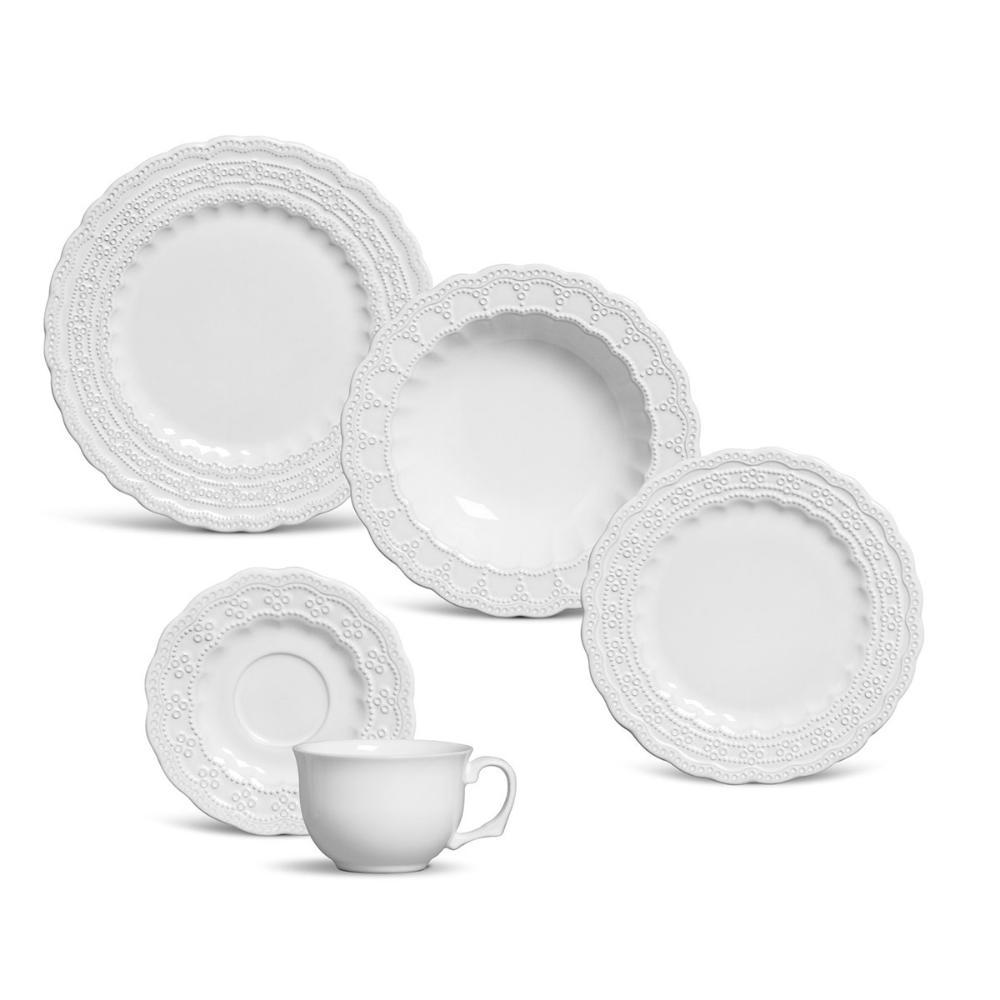 Aparelho de Jantar 30 Peças Peniche Branco