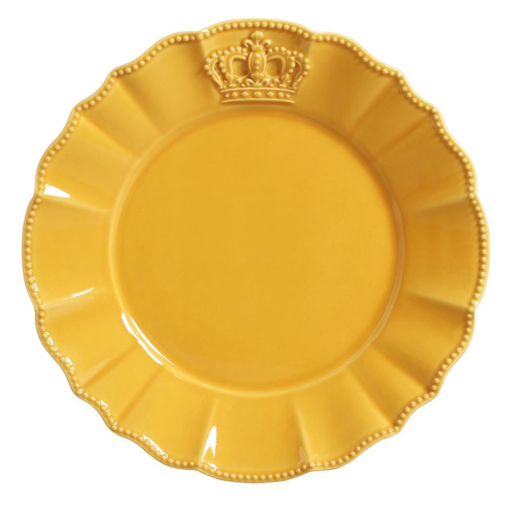 Conjunto com 6 Pratos Raso Windsor Mostarda 27cm