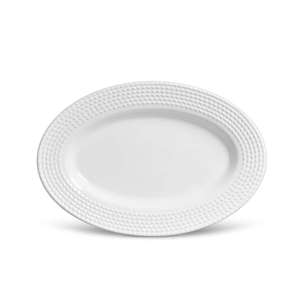 Travessa Olímpia MÉDIA Branco 36 x 24,5 cm