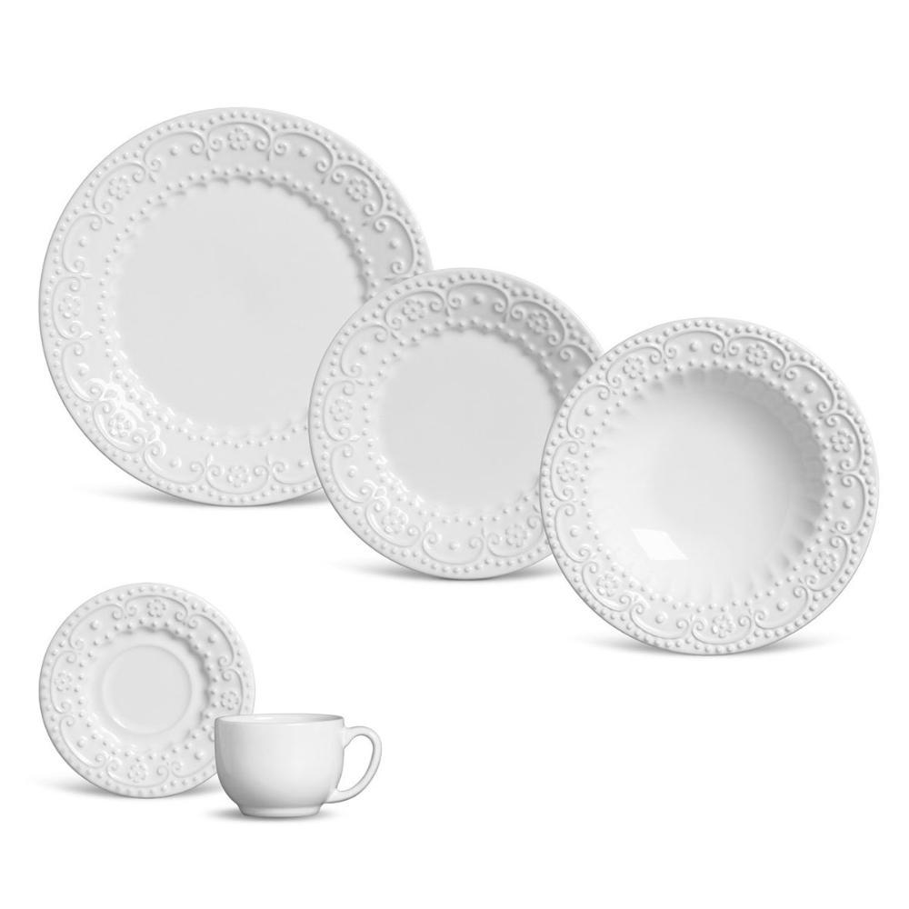 Aparelho de Jantar 30 Peças Esparta Branco