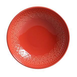 Conjunto com 6 Pratos Fundo Agra Vermelho 21 cm