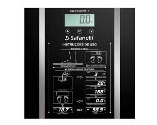 Balança Digital até 150kg Vidro Temperado Safanelli