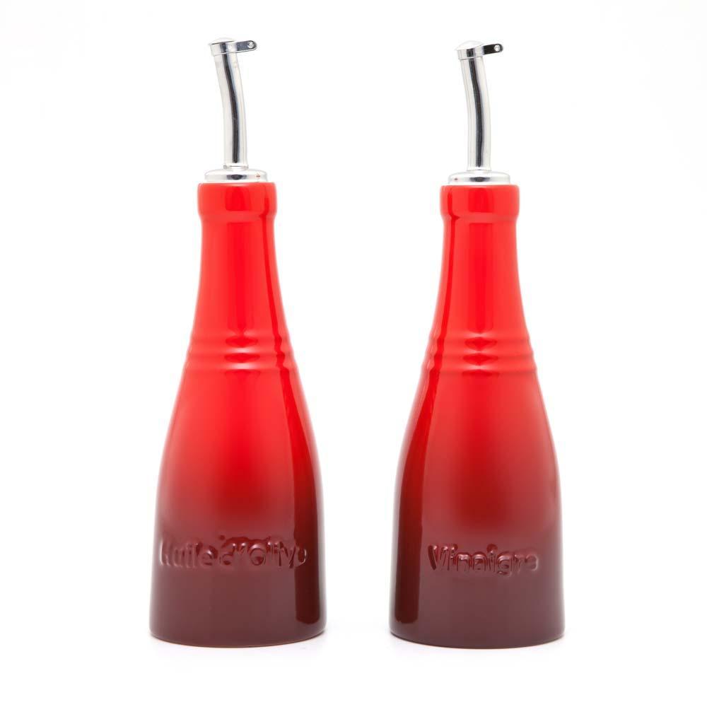 Conjunto Óleo E Vinagre Vermelho Le Creuset