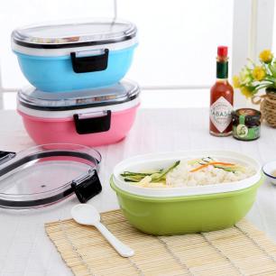Marmita Oval Hermético 13Cm Verde Basic Kitchen
