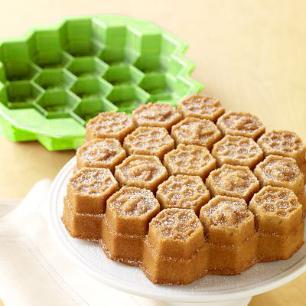Forma De Bolo Silicone Bee Verde Basic Kitchen