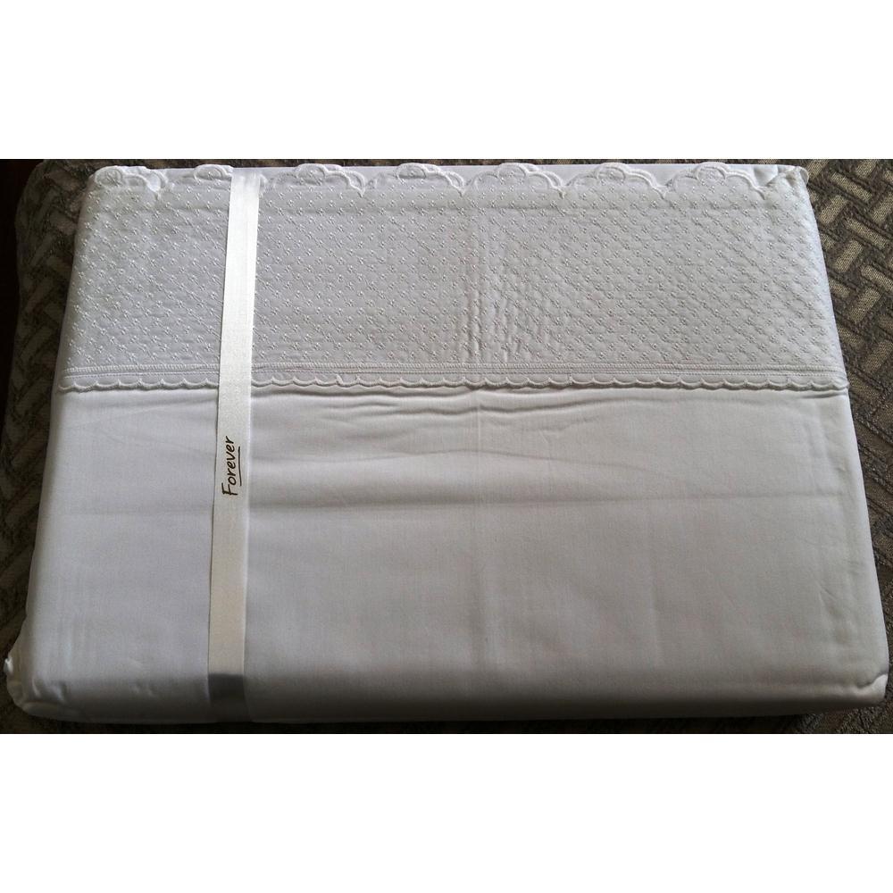 Jogo De Lençol Lese Queen 250 Fios Desenho 09 Branco