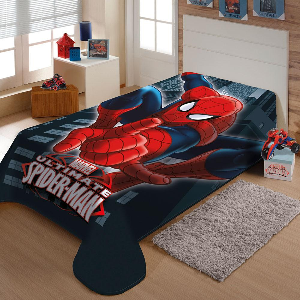 Cobertor Juvenil Homem Aranha 1,50X2,00M Jolitex