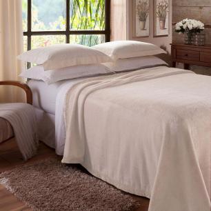 Cobertor Raschel Marfim Casal 1,80 X 2,20M Jolitex