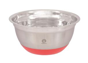 Tigela Funda 24cm Inox Com Base em Silicone Masterchef Gedex