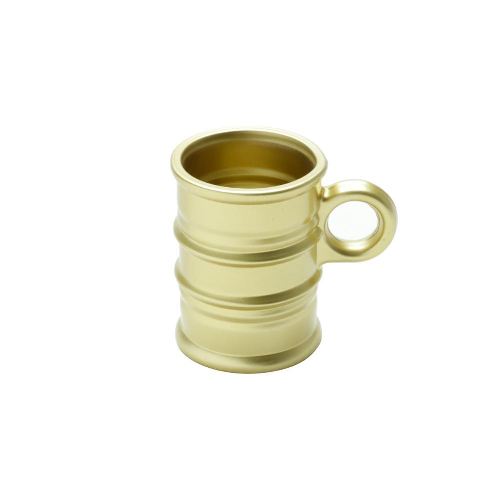 Conjunto 6 Canecas de Vidro Vintage Dourado 95ml Lyor