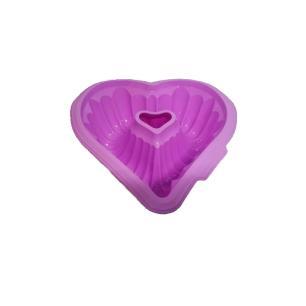 Forma De Coração Em Silicone 27X26X8.5 Cm Roxo Basic Kitchen
