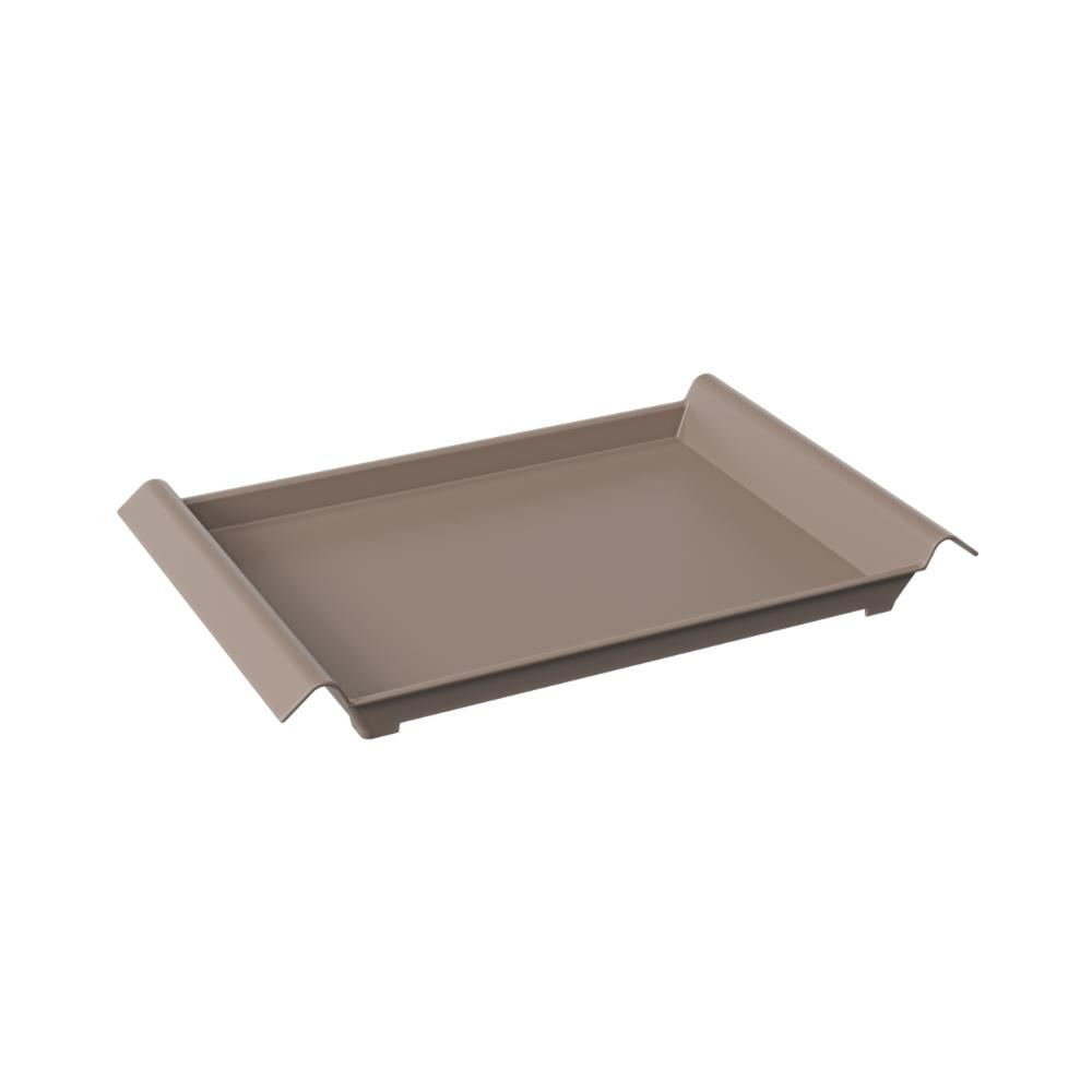 Bandeja Grande 455x296x50mm Casual Warm Gray Coza