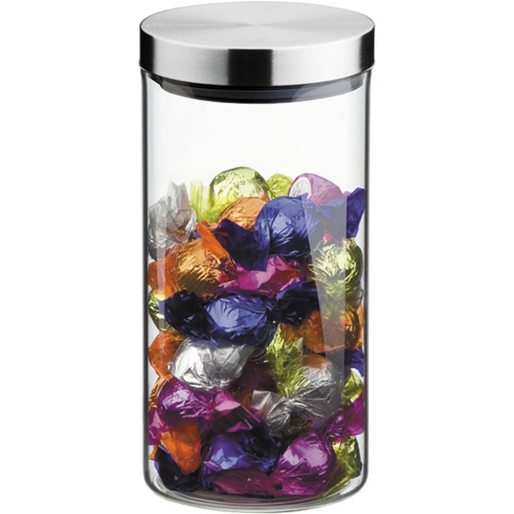Pote De Vidro Com Tampa Inox 11,5 X 24 Cm, 2,5 Litros Brinox