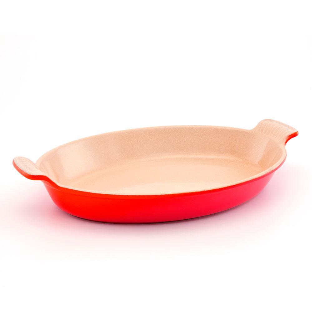 Travessa Oval 36Cm Em Cerâmica Vermelha Le Creuset