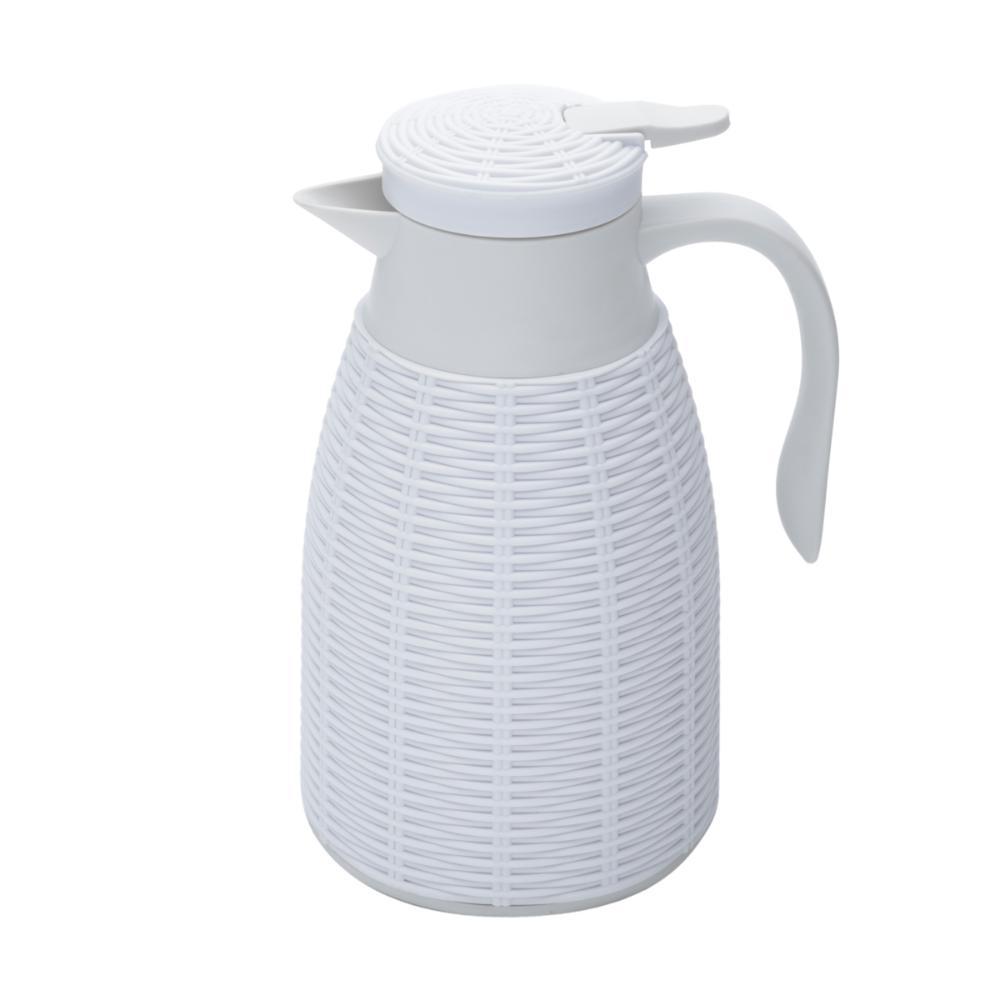 Garrafa Térmica Com Rattan Plástico Branco Tress 1l Lyor