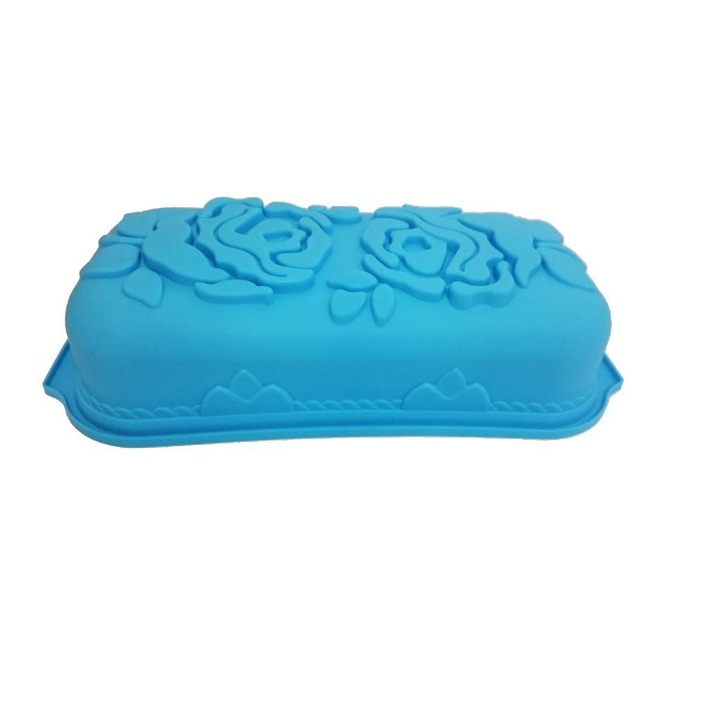Forma De Bolo Silicone Roses Azul 71206 Basic Kitchen