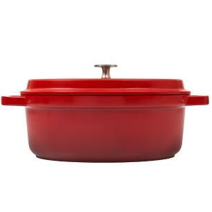 Caçarola Oval 31Cm Grand Gourmet Vermelha Brinox