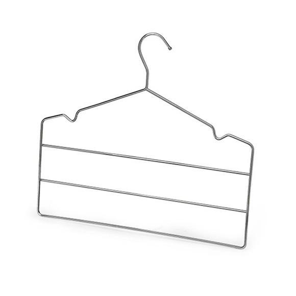Conjunto De Cabides Triplo Para Calça Cromado 2 Peças Arthi - 0060