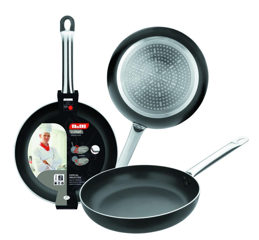 Frigideira 24 Cm Antiaderente Cabo Em Inox I-Chef Ibili - 403024