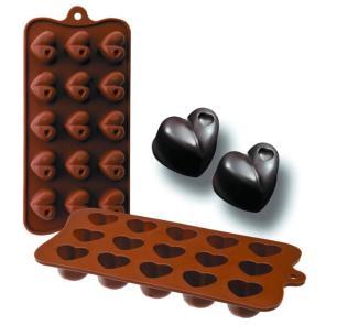 Molde Silicone Chocolates Coração Ibili - 860301