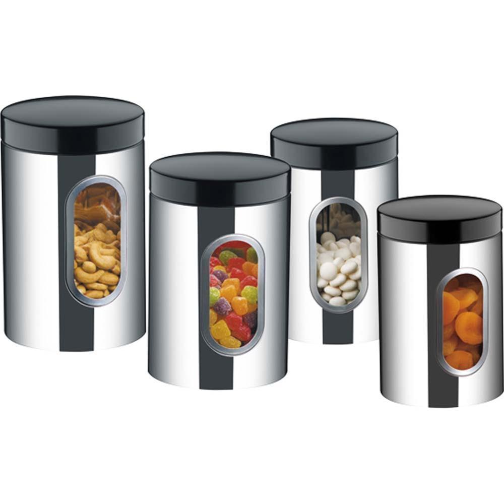 Conjunto De Potes Inox Com Visor 4 Peças Suprema Brinox