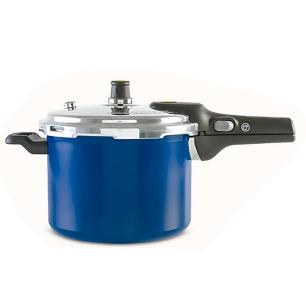 Panela De Pressão 6 Litros Pressure Azul Brinox