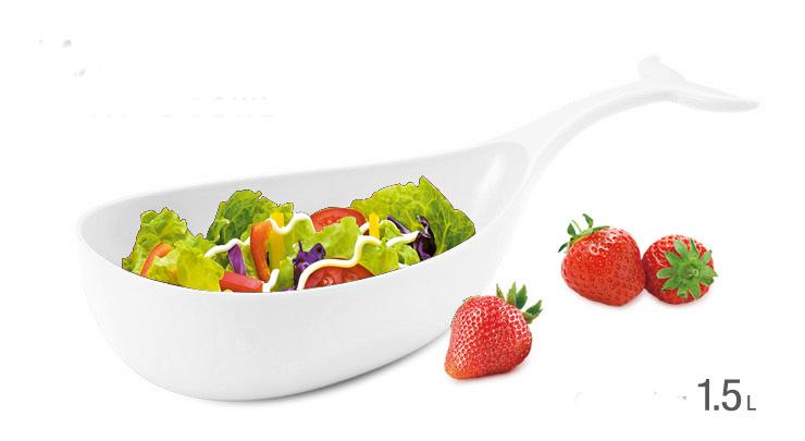 Petisqueira Melamina 30,6Cm Baleia Branco Basic Kitchen