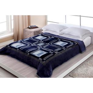 Cobertor Casal Linea Delphi Azul 1,80 X 2,20 M Corttex