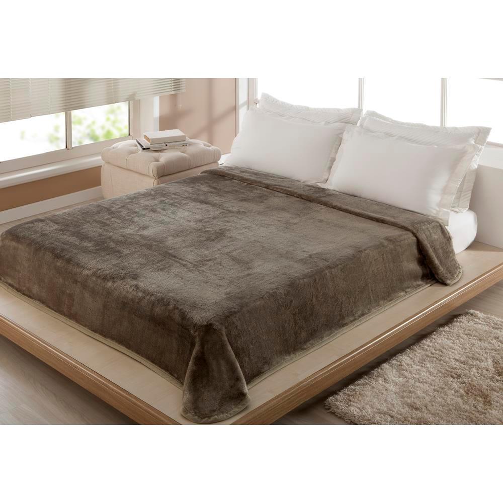 Cobertor Casal Liso Fendi 1,80 X 2,20 M Corttex