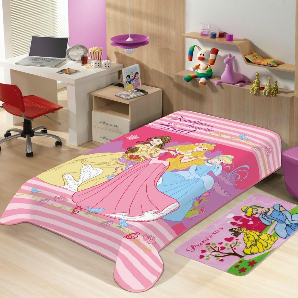 Cobertor Raschel Juvenil Princesas 1,50 X 2,00M Jolitex