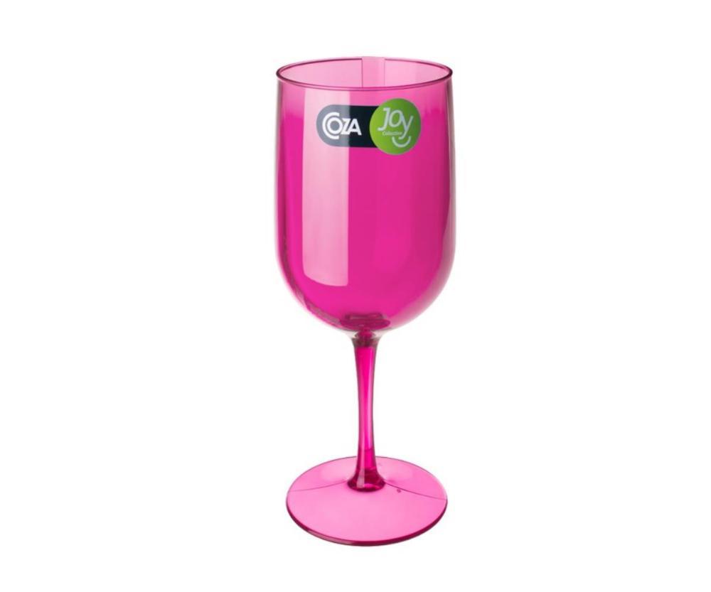 Taça Água/Vinho Fun 8,1 X 8,1 X 20,5 Cm 380 Ml Rosa Coza