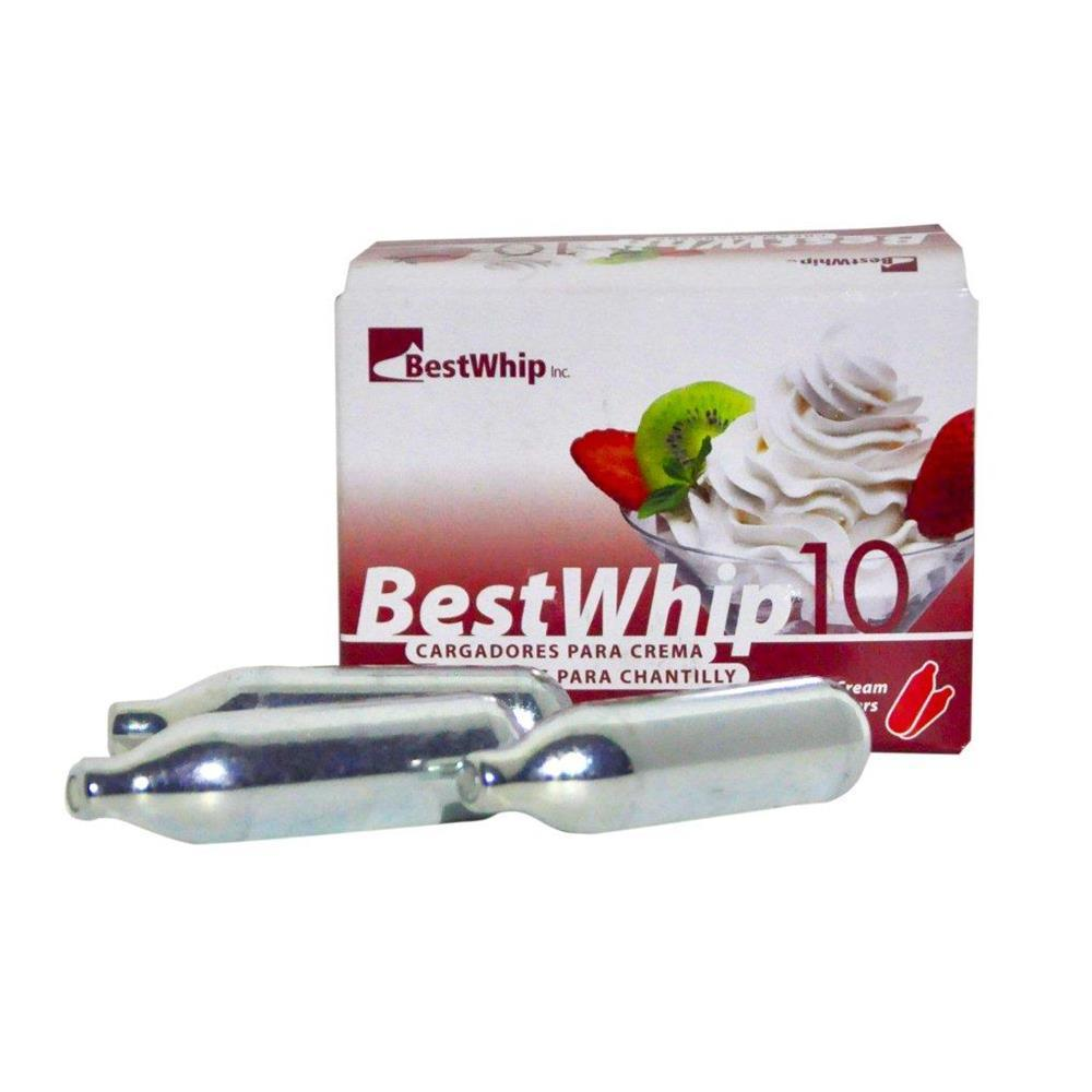 Cápsula De Gás Para Chantilly Cx 10Pçs Best Whip - Cap