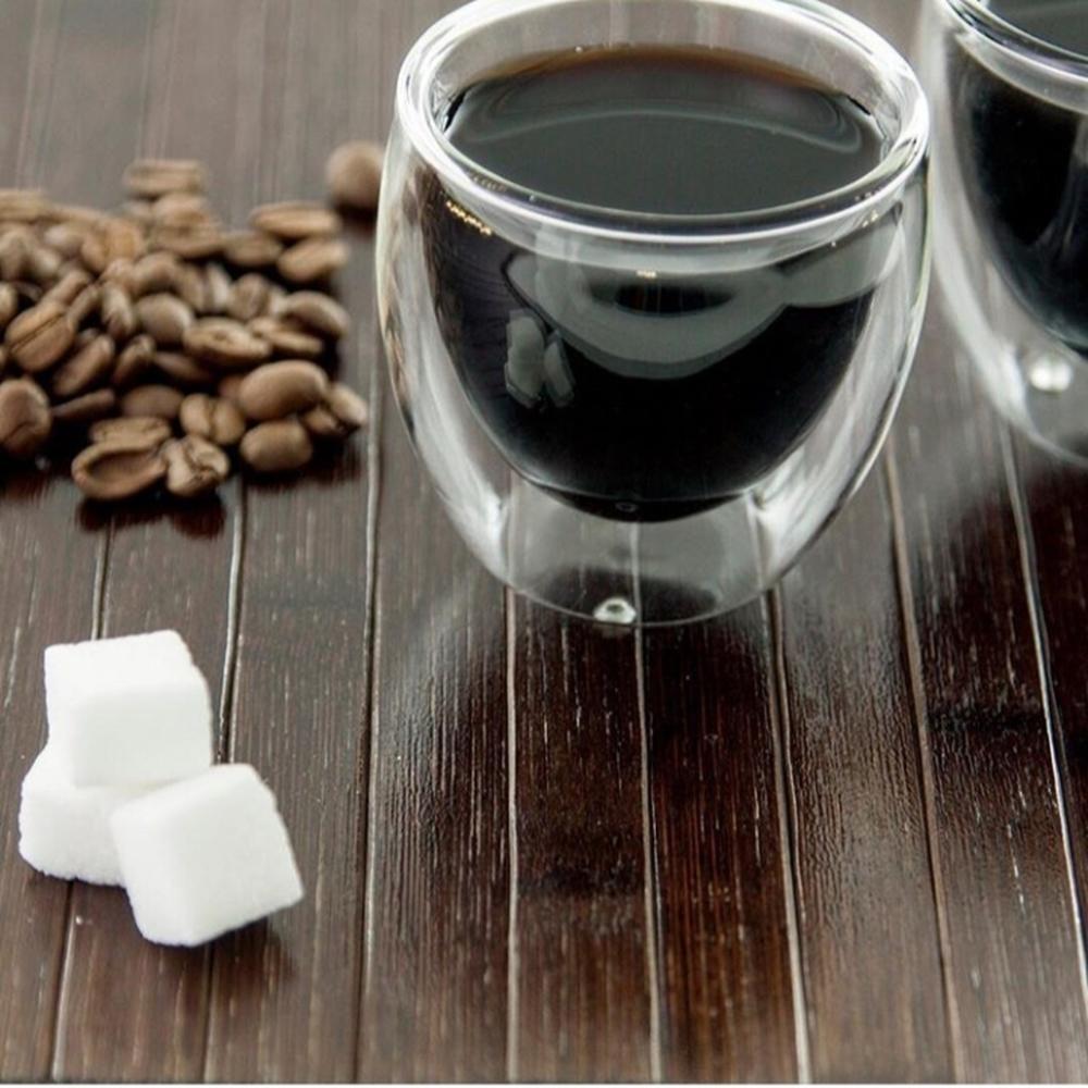 Jogo 2 Copos Para Café Parede Dupla  Mimo