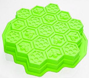 Forma De Bolo Silicone Bee Verde Basic Kitchen