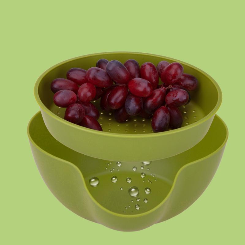 Lava Frutas Com Escorredor Integrado Verde Basic Kitchen