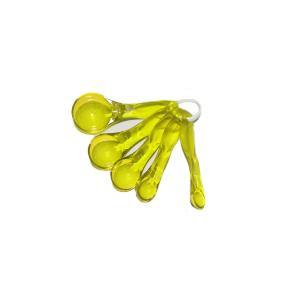 Conjunto De Colheres Medidoras Amarelo Basic Kitchen